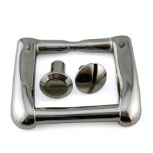 Tornillo Chicago ranurado de aluminio de latón para hebilla de cinturón