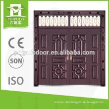 Popular style sun proof copper imitation villa door with top window