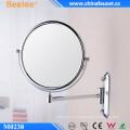 Miroir mural cosmétique bidirectionnel en laiton de 8 pouces