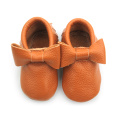 Brown Leather Moccasins Wholesale Słodkie Obuwie Baby