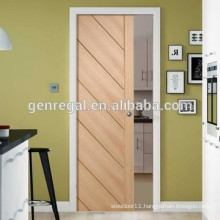 Wooden interior pocket sliding door