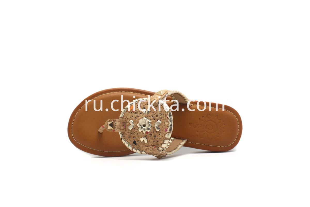 Children Flat Fashion Sandals With cork uppers