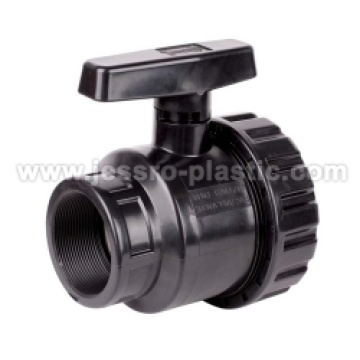 PP COMPRESSION SINGLE UNION BALL VALVE (FEMALE THREAD)