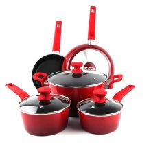 Amazon Vendor 8 штук красный набор посуды черный