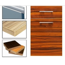 High Glossy Plywood UV Painting Woodgrain Kitchen Cabinet Doors (Any MOQ)