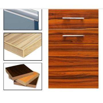 High Glossy Plywood UV Painting Woodgrain Kitchen Cabinet Doors (Any MOQ)
