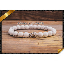 Branco pulseiras turquesa Howlite Buddha DIY jóias (CB040)