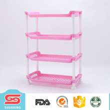 detachable 4 layer plastic kitchen rack for storage sundries