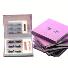 3D116H Hitomi Cruelty Free 3d Mink Eyelashes soft natural mink eyelashes Fluffy Magnetic Eyelashes with Eyeliner and tweezers