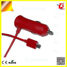 Dazzing Colorized 5V1A & 5V2A PWM control usb data cable car charger for Samsung mobile phone