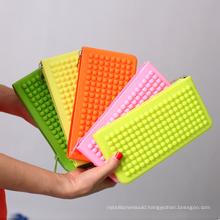 Popular Silicone Wallet Silicone Purse with Zipper