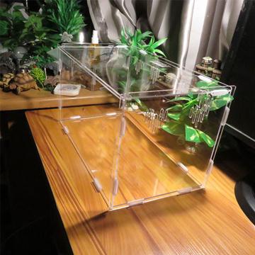 Acryl Haustier Reptil Käfig Fütterung Zuchtbox
