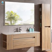 Großhandelssperrholzwand mouted Badezimmerwaschebasisunterseite mit Kabinettspiegel