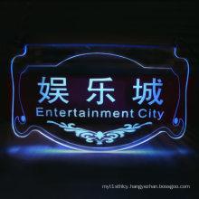 Illuminated Clear Acrylic Signage, POS LED Display