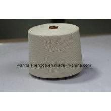 Alta qualidade 80% / 20% algodão branco cru / linho misturado fio