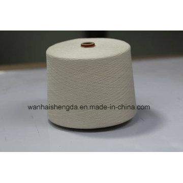 Haute qualité 80% / 20% coton blanc brut / mélange de lin