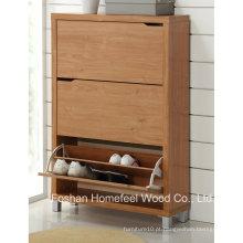 Gabinete de sapatos de madeira de alta qualidade de 3 gavetas de madeira (SC03)