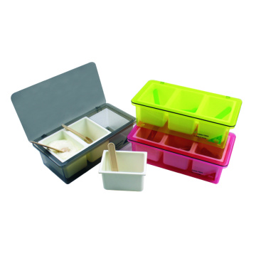 2 Grids Plastic Seasoning Box