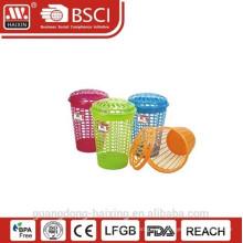 Cesta de basket(57L)/lavandaria de roupa plástico popular & boa qualidade com tampa