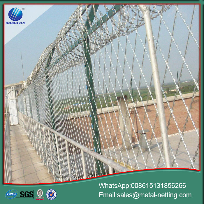 welded razor wire fencing