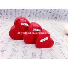 Sala de estar ornamento de cerámica escultura pequeña corazón