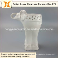 Decoración del Hogar Cerámica elefante forma jarrón (decoración de jardín)