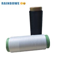 Fil coloré de haute acy coloré spandex couvert de polyester pour les chaussettes