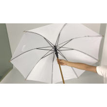 parasol for wedding with wooden handle chinese cheap price bright colored white favors promotion umbrella with logo printing