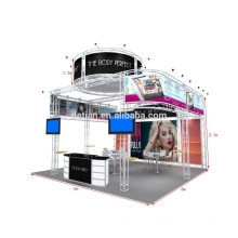 Portable aluminum truss display stand with shelves and TV bracket from shanghai
