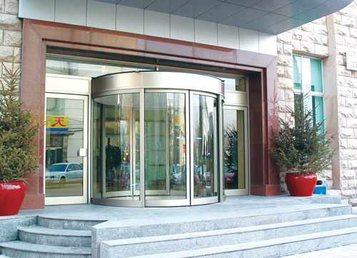 Automatic Curved Sliding Doors with Interlock Function