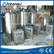 Pl Stainless Steel Jacket Emulsificación Mezcla Tanque Mezclador de aceite Mezclador de azúcar Solución Mezcla de tanques