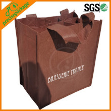Durable Non Woven 6 Pack Wine Bag with customized logo