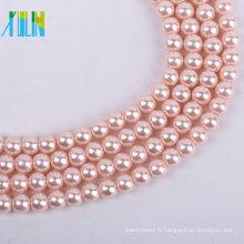 Haute qualité 2-3MM coquille naturelle Faux perles lâches perles coquilles de mer Perles perles