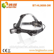 Factory supply high power 3w cree led headlamp zoom headlight 150lm output 3AAA