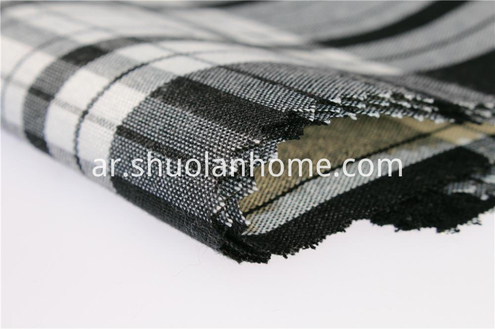 Dark Plaid Fabric