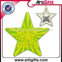 Badges en forme de fer blanc en forme d'étoile