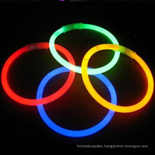 colorful glow stick bracelet in the dark