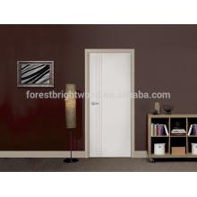 White primer flush honeycomb door