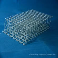 Structure en fibre de verre en fibre de verre 3D, tissu en fibre de verre, tissu à tricoter Fibergalss à haute perforation