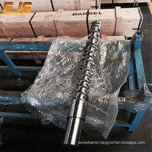 nitrided 3'' rubber feed screw and barrel weldment