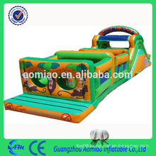 New inflatable obstacle course inflatable castle train obstacle course for kids / adult
