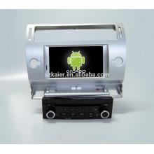 Quad core! DVD de coche con enlace de espejo / DVR / TPMS / OBD2 para pantalla táctil de 7 pulgadas de cuatro núcleos Sistema Android 4.4 CITROEN C4 (Plata)