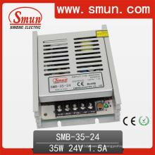 Fonte de alimentação do ultra-interruptor da caixa plástica de 35W 24V1.5A