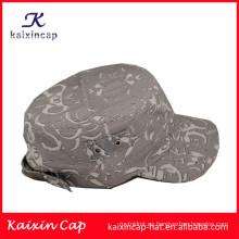 fabricante promoción moda curvado borde desigh su propio ejército gris gorras y sombreros de calidad superior al por mayor