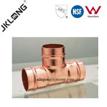 T de redução de cobre J9501 para encanamento