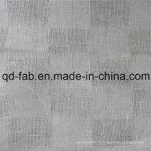 Tissu en lin jacquard teint en fil (QF16-2471)