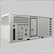 Sistema de generación diesel insonoro 900kw Mtu con el certificado del CE