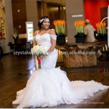 Vestidos De Noiva 2017 Vestidos de boda africanos Backless de la sirena del cordón del vestido nupcial de Arabia LW2196