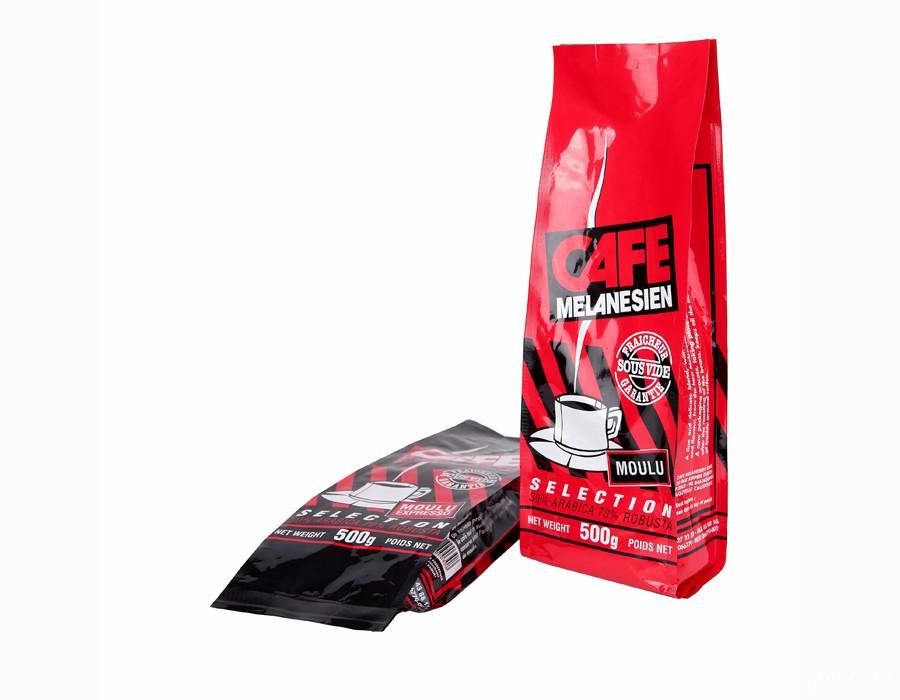 Custom Reusable Quad Seal Coffee Bean Packaging Bags