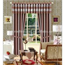 El estilo de la raya y el uso casero del hotel cortina el telón de fondo